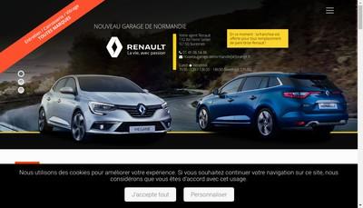 Site internet de Nouveau Garage de Normandie