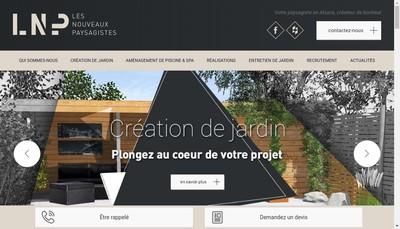 Site internet de Les Nouveaux Paysagistes