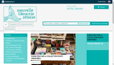 Site internet de La Nouvelle Librairie Setoise