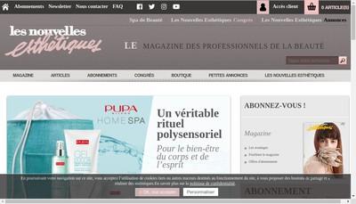 Site internet de Edition les Nouvelles Esthetiques