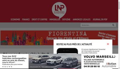 Site internet de Les Nouvelles Publications