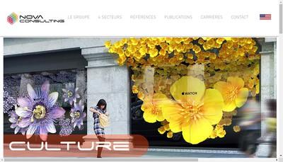 Site internet de Nova Consulting
