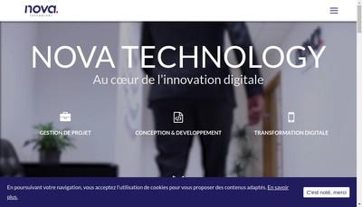 Site internet de Nova Technology