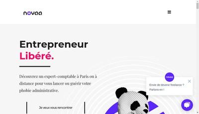 Site internet de Novaa Expertise