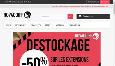 Site internet de Novacoiff