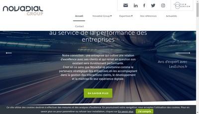 Site internet de Novadial