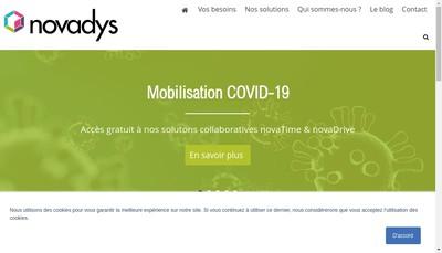 Site internet de Novadys