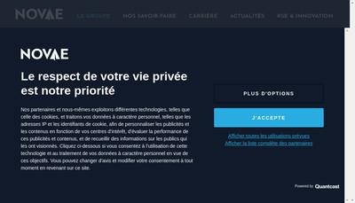 Site internet de Novae Group