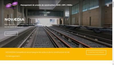 Site internet de Novaedia Ingenierie