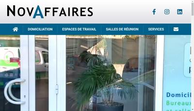 Site internet de Novaffaires