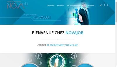 Site internet de Novajob