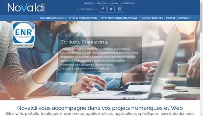 Site internet de Novaldi