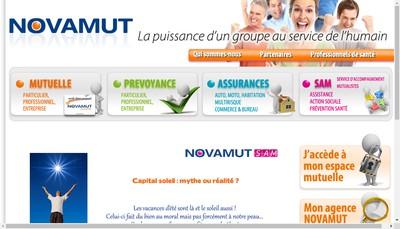 Site internet de Groupe Novamut