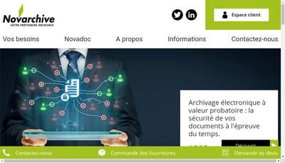 Site internet de Novarchive Holding