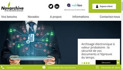 Site internet de Novarchive Lyon