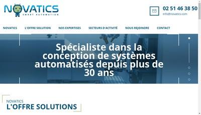 Site internet de Novatics