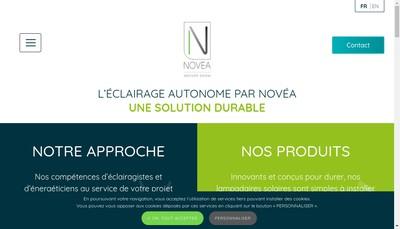 Site internet de Novea Energies