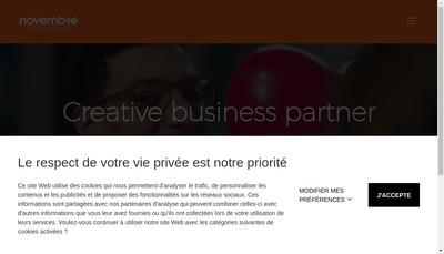 Site internet de Agence 109 - Groupe Novembre