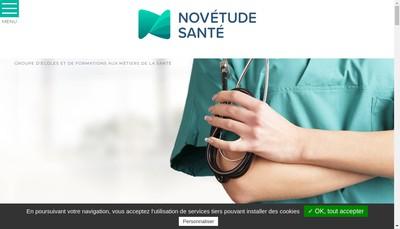 Site internet de Novetude Sante