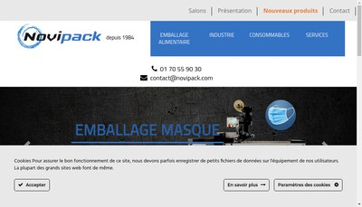 Site internet de Novipack