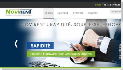 Site internet de Novirent