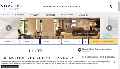 Site internet de Novotel Nice Centre