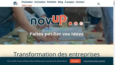 Site internet de Novup