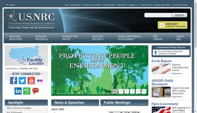 Site internet de NRC