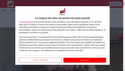 Site internet de NRJ