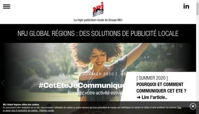Site internet de Nrj Global Regions