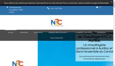 Site internet de Nouvelles Technologies de Chauffage