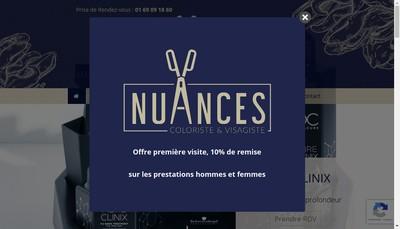 Site internet de Nuances Coiffure