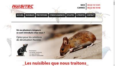 Site internet de Nuisitec