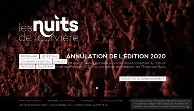 Site internet de Les Nuits de Fourviere
