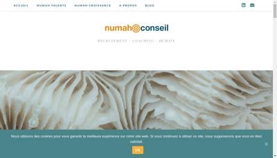 Site internet de Numah Conseil