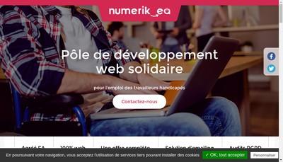 Site internet de Numerik- Ea