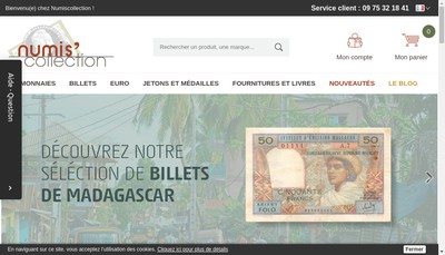 Site internet de Numiscollection