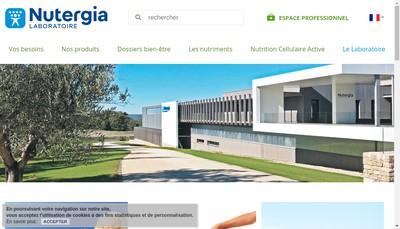 Site internet de Laboratoire Nutergia