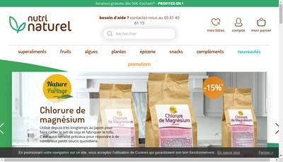 Site internet de Nutri Naturel
