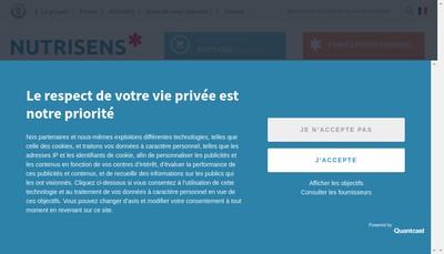 Site internet de Nutrisens