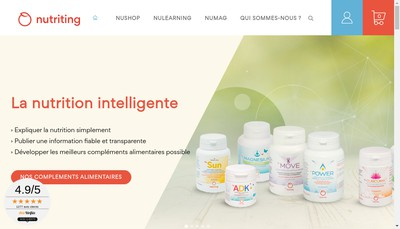 Site internet de NUTRITING