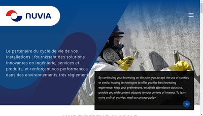Site internet de Nuvia Support