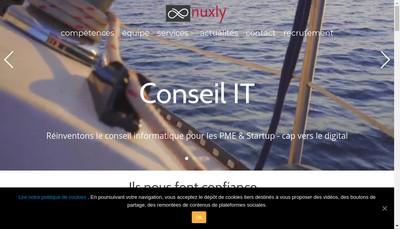 Site internet de Nuxly