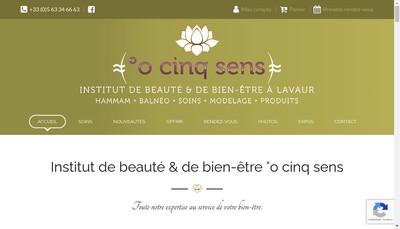 Site internet de O 5 Sens