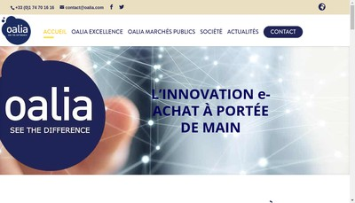 Site internet de Oalia