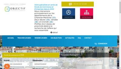 Site internet de Objectif Entreprises et Commerces