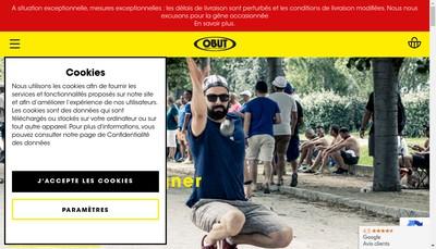 Site internet de La Boule Obut