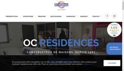 Site internet de Oc Residences Etudes