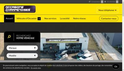 Site internet de Occasions Champenoises