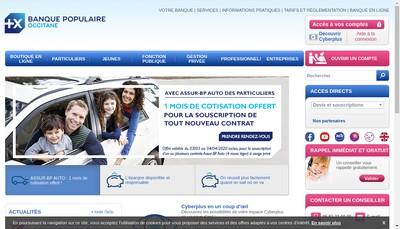 Site internet de Banque Populaire Occitane